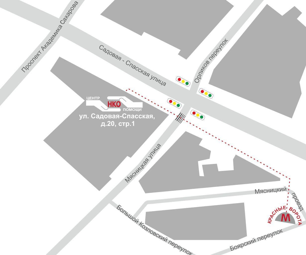 Центр помощи НКО - адрес и схема проезда
